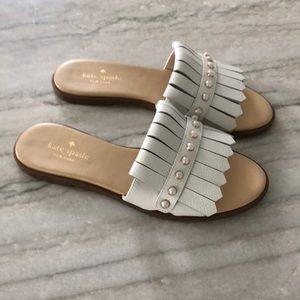 Kate Spade Stasie White Leather Sandals 7
